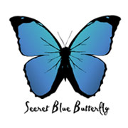 Secret Blue Butterfly Logo